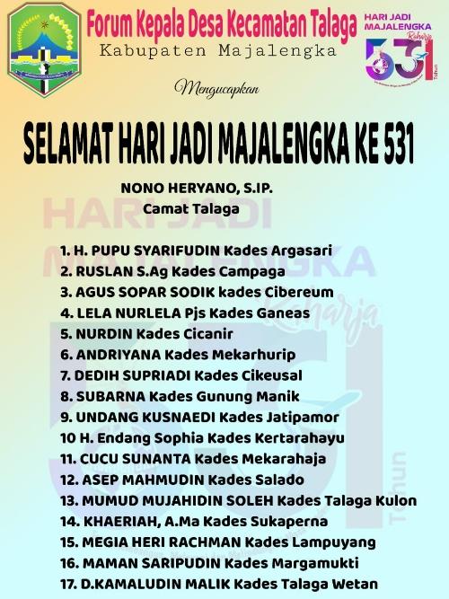 Forum Kades se Kecamatan Talaga HUT Majalengka 531